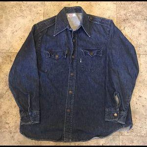 Vintage 60s Levis Big E Denim Work Shirt